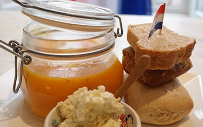 Wortelsoep met sinaasappelsap